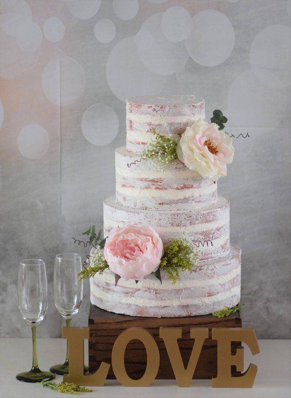 Faux Semi Naked Cake Fake Naked Cake Naked Cake Translucent Cake