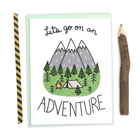 Adventure Birthday Card, Outdoorsy Love Card, Love
