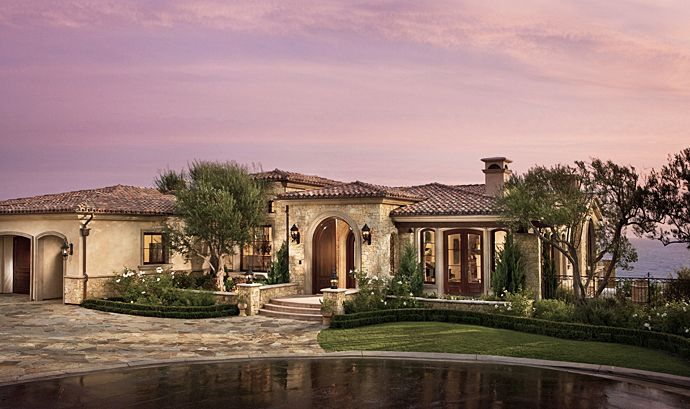 Tuscan mediterranean villa on the pacific coast brion for Tuscan california