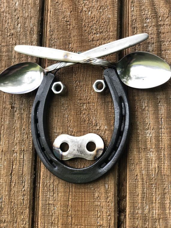 Horseshoe Cow Wall Art