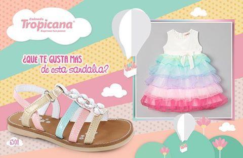 Mami, estamos enamorados de esta #sandalia #Tropicana  Es perfecta para los vestidos de primavera, ¿qué te gusta más de este Modelo?  Estilo   Colores  Detalles   Suela