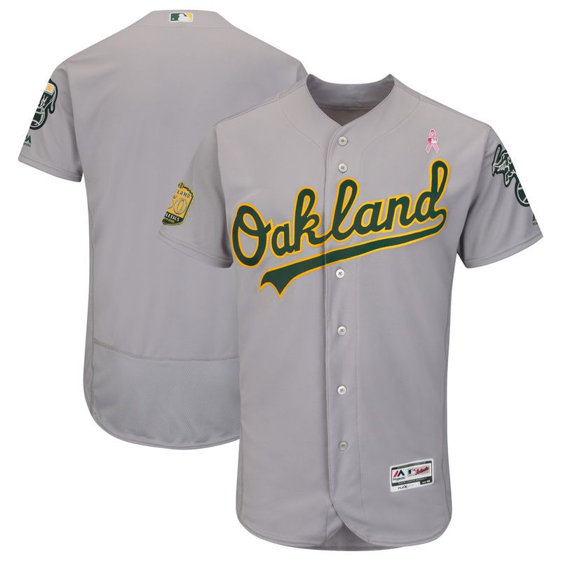 low priced 44687 33a84 Oakland Athletics Majestic 2018 Mother's Day Road Flex Base ...