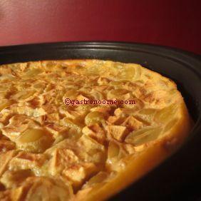 Clafoutis pomme & raisin blanc http://gastronoome.com/products.php?pid=736 #recette, #dessert, #clafoutis, #raisin, #pommes,