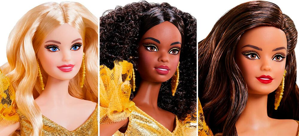 Faces of new Barbie Holiday 2020 dolls in 2020 Top toys