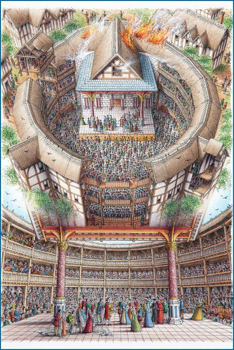 Stephen Biesty - Illustrator - Inside-out Views_Globe Theatre