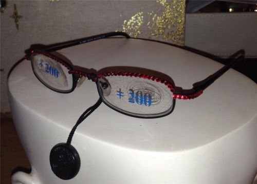 4479e3277481 Auth Jimmy Crystal Swarovski Readers Reading Glasses GL 180 2 00 ...