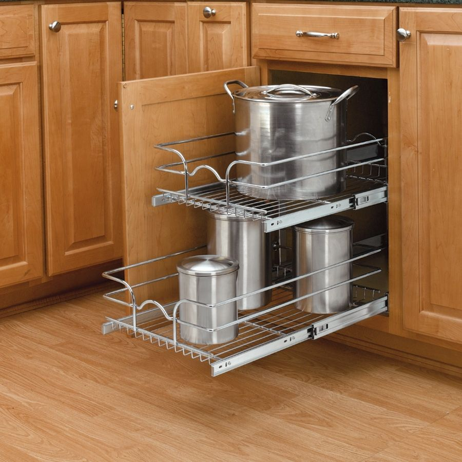 12 Double Pull Out Basket Chrome 5wb2 1222 Cr Kitchen Cabinet Pulls Cabinets Organization Rev A Shelf