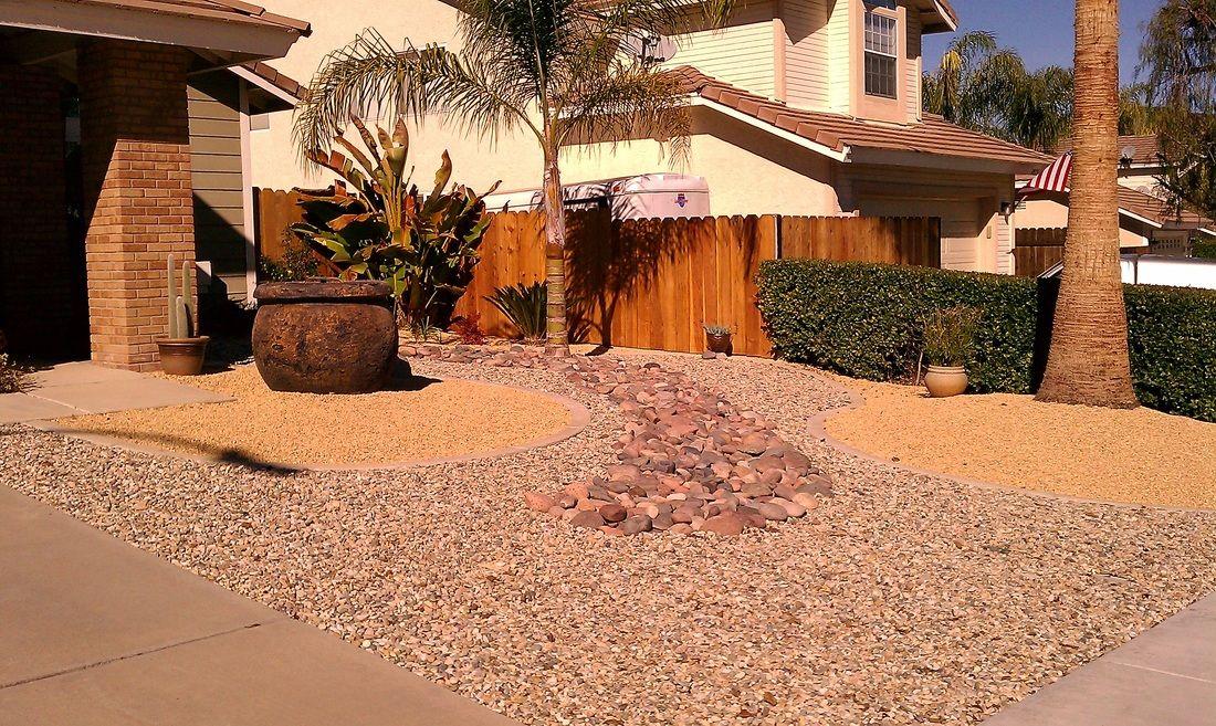 front yard xeriscape design decorative