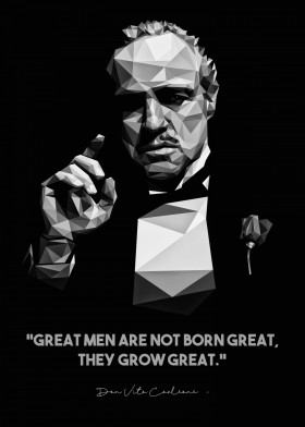 Don Vito Corleone Famous People Quotes By Dayat Banggai Metal Posters Displate Godfather Quotes Quotes By Famous People Vito Corleone Quotes