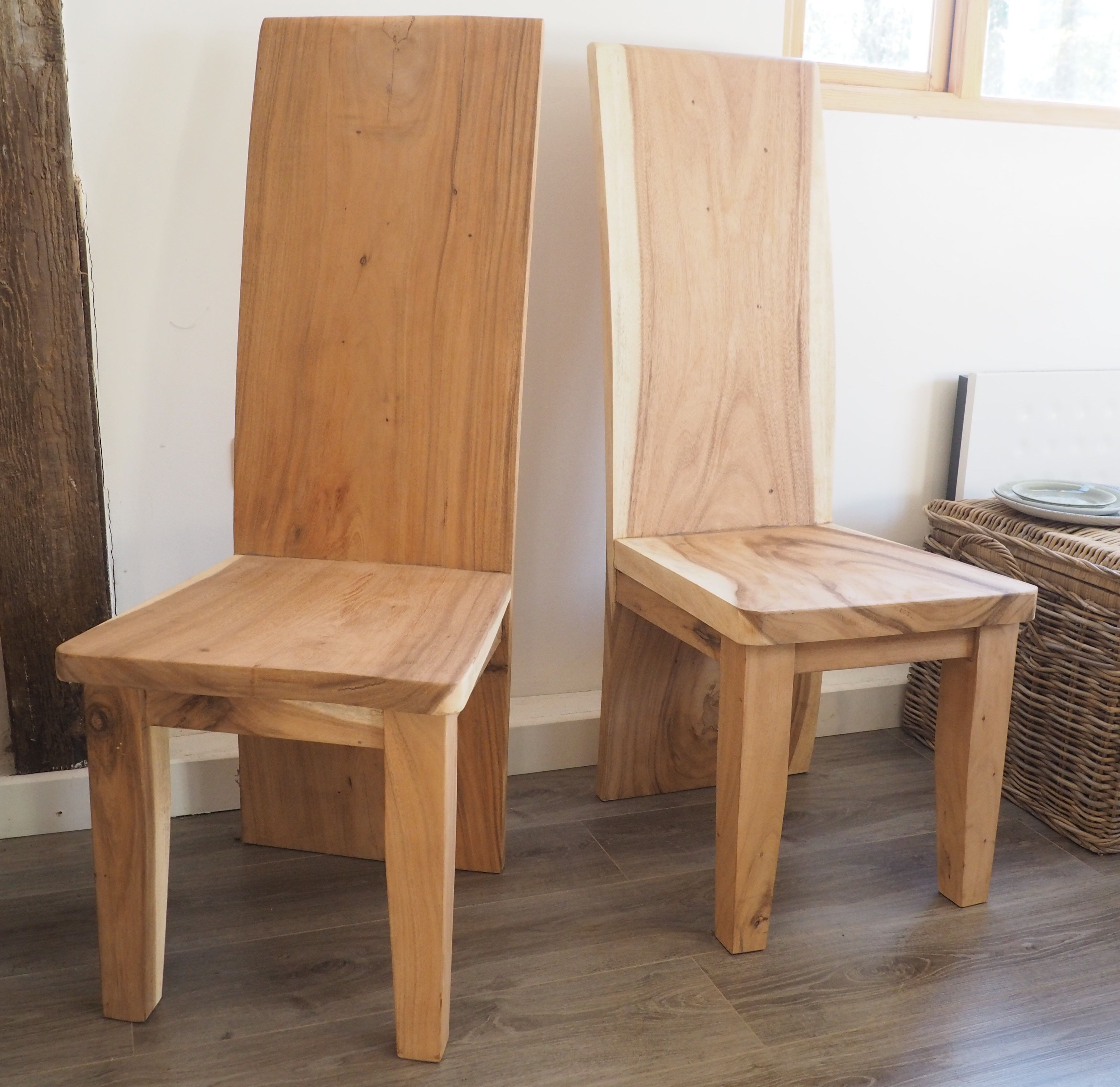 These Simply Stunning Natural Wood Dining Chairs Have A