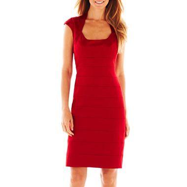 008b2e4214045 Satin-Trim Bandage Dress - jcpenney | Dresses | Dresses, Red satin ...