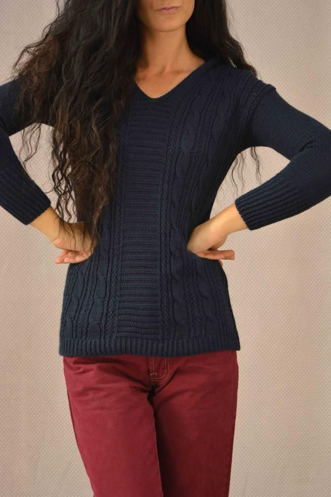 750a97177ccf Γυναικείο πουλόβερ με κουκούλα PLEK-2709-bl Πλεκτά - Πλεκτά και ζακέτες