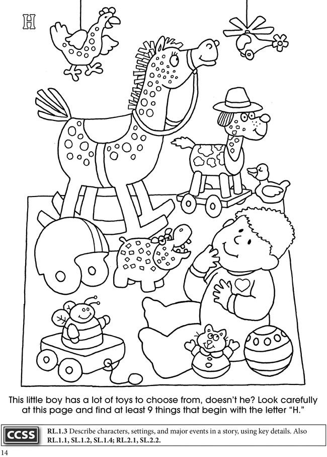 BOOST Alphabet Search Coloring Activity Book Dover Publications ...