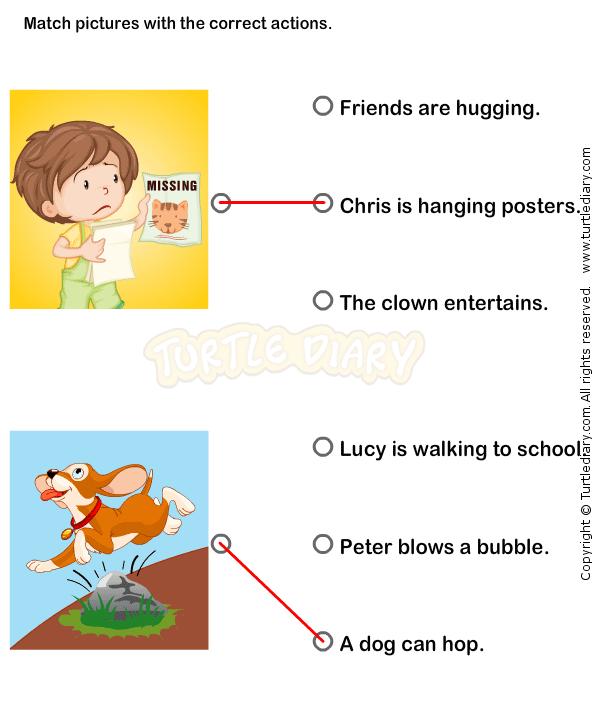 Action Verbs Worksheets 1 - esl-efl Worksheets - kindergarten ...