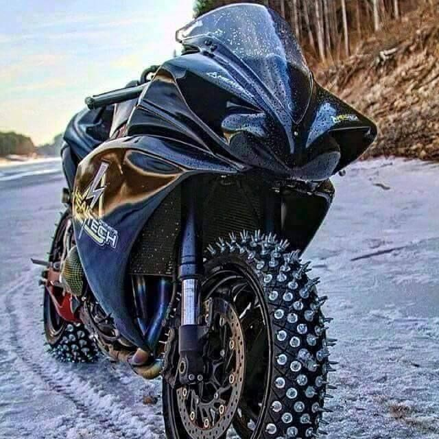 """motorcycles-and-more: """" Sportbike on ice """""""