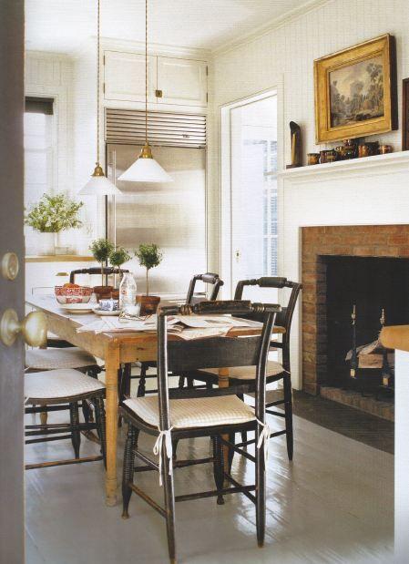 Gil Schafer Kitchen Fireplace Refrigerator Next To