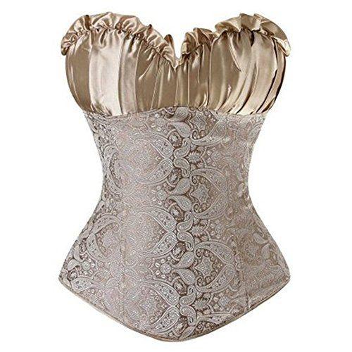 #FeelinGirl #Damen #Korsage #Korsett #Korsagekleid #Top #Corsage #Mini #Rock #3XL #golden FeelinGirl Damen Korsage Korsett Korsagekleid Top Corsage Mini Rock 3XL golden, , elegante Corsage aus Jaquard und Satin, Die Büste dieser Korsage ist ein bisschen groß,wenn Ihre Büste klein sind,bestellen Sie bitte eine kleiner Nummer bitte., Kleidungspflege: Nur Handwäsche, 7 Stützstäbe sorgen für guten Sitz, geschlossen wird die Corsage mit einem seitlichem Reißverschluss,am Rücken mit einer…