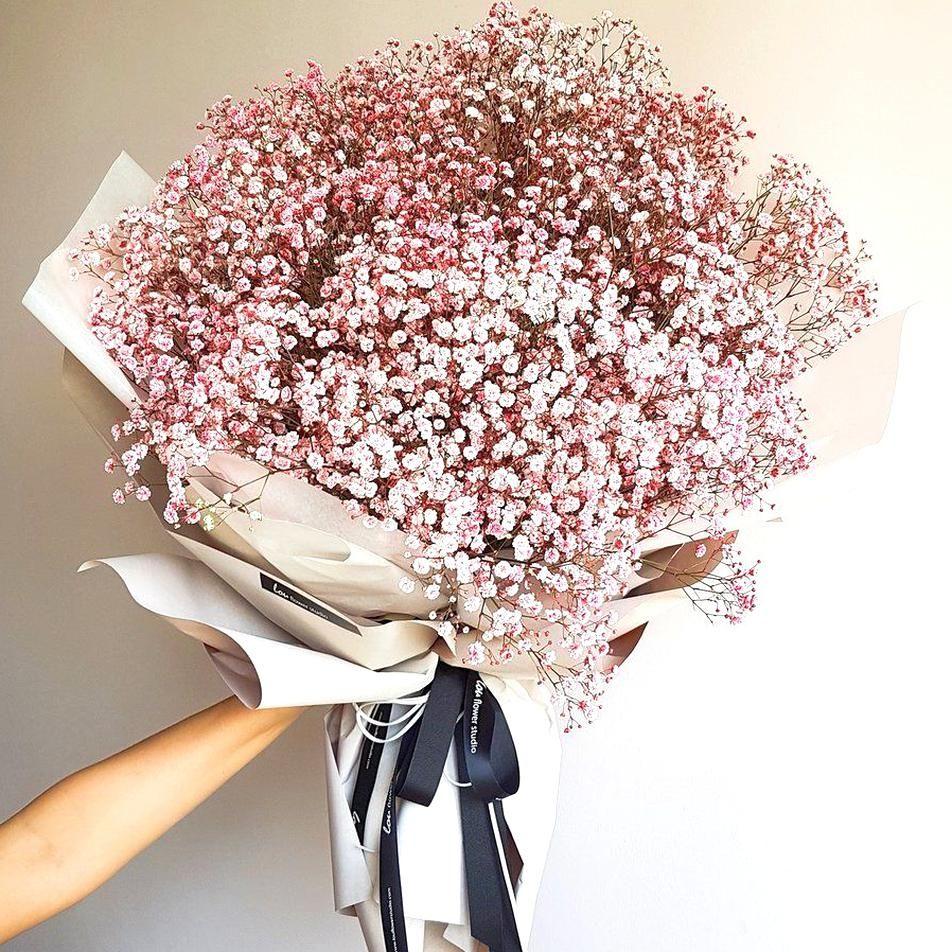 Pink Babys Breath Bouquet Lou Flower Studio In 2020 Flowers Bouquet Gift Boquette Flowers Babys Breath Bouquet