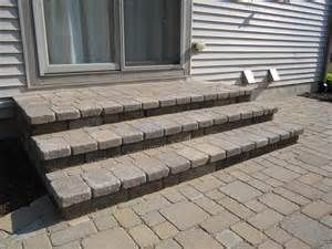 Multi Level Paver Patio Is Reconstructed To One Level For Added Space Old  Multi Level Patio This Raised Pavers Patio In Saline, MI Was.