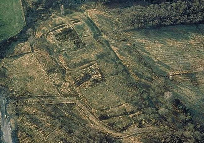 Aerial Photograph Of The Antonine Wall At Rough Castle