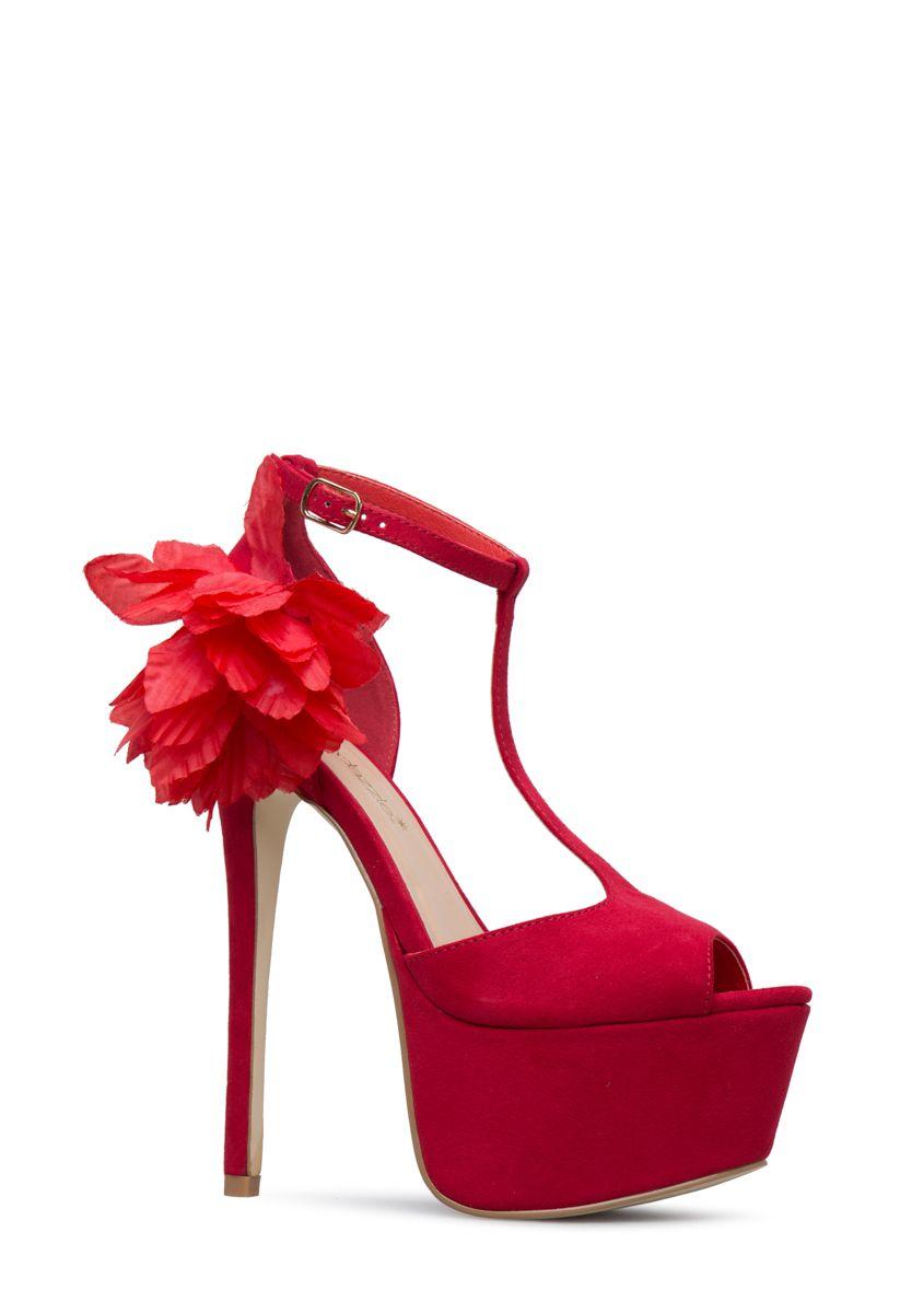 3b80e855e8e3 BABE FLORAL PLATFORM PUMP - ShoeDazzle