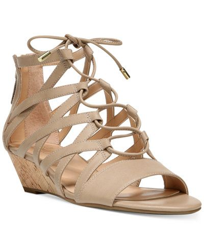 Franco Sarto Brixie Lace-Up Ghillie Demi-Wedge Sandals