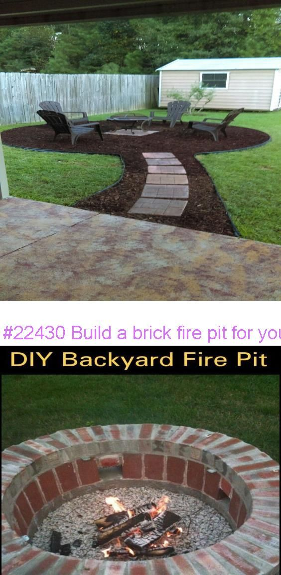 #22430 Build a brick fire pit for your backyard | Brick ...