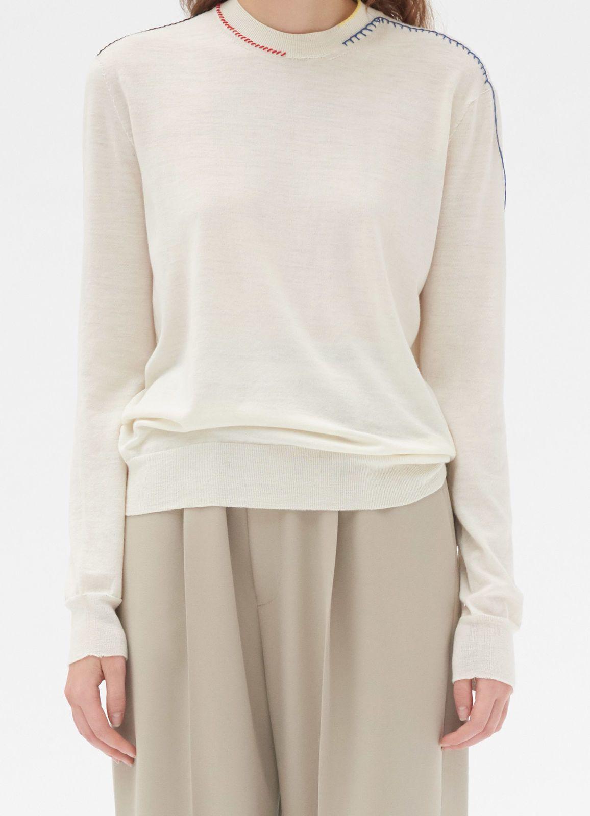 Crew neck sweater in seamless wool   CÉLINE   Knitwear