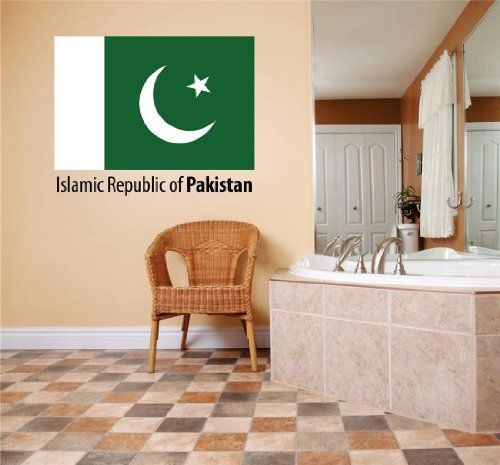 Decals Stickers Islamic Republic Of Pakistan Flag Country Pride