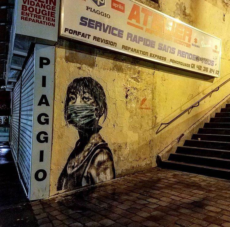New Street Art by Eddie Colla Found in Paris #art #mural #graffiti #streetart