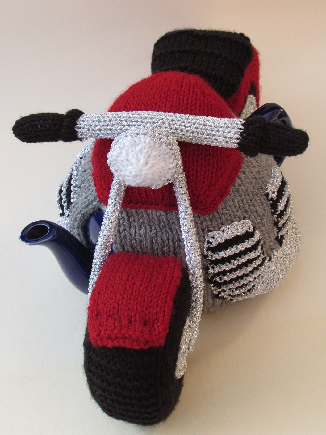 Motorcycle tea cosy knitting pattern   Tea cosies, Cosy and Teas