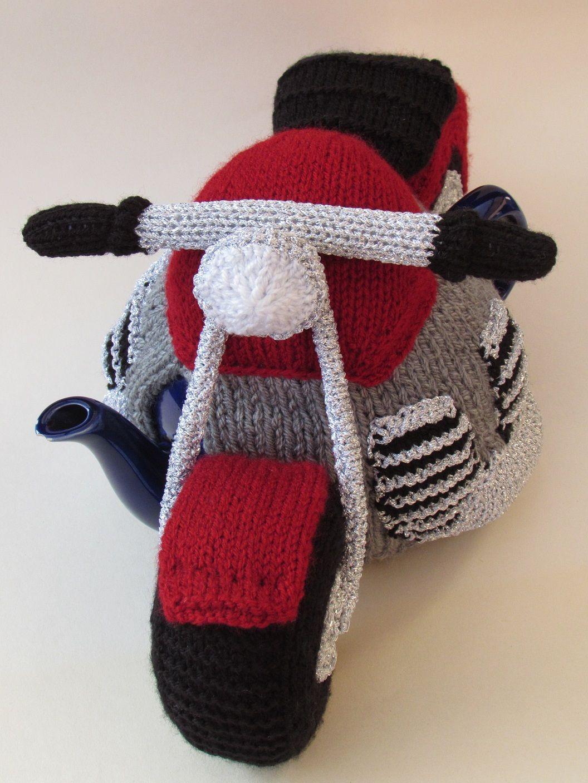 Motorcycle tea cosy knitting pattern | Teteras, Hora del té y ...