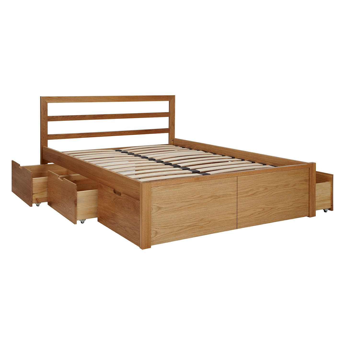 House by john lewis ollie storage bed king size oak storage beds
