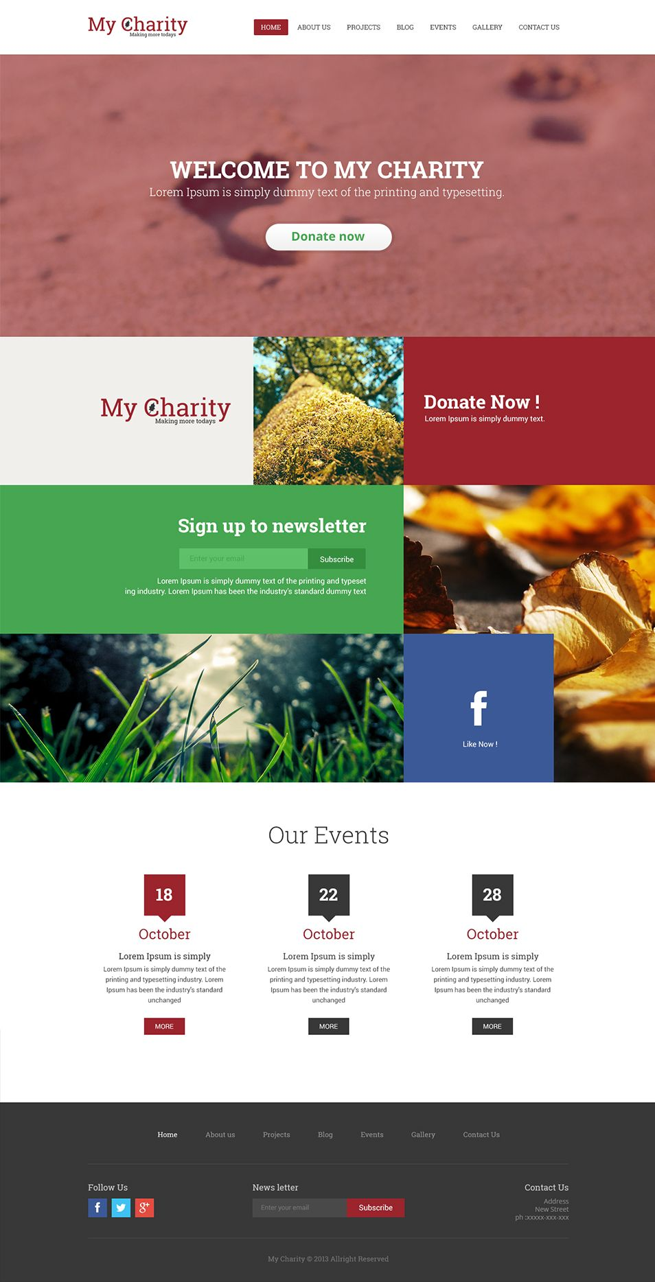 Responsive Web Design Psd Template Charity Website