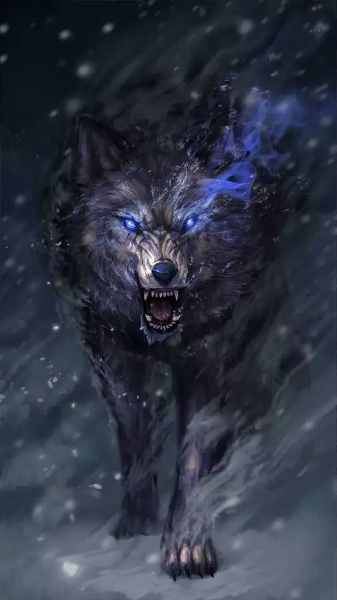 Anime Snow Wolf Wallpaper
