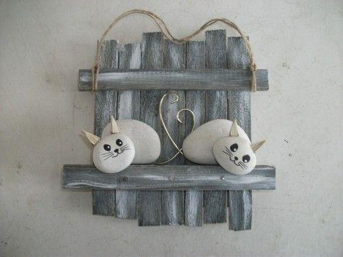 chamoureux chien chat dog cat bricolage galets et art de galets. Black Bedroom Furniture Sets. Home Design Ideas