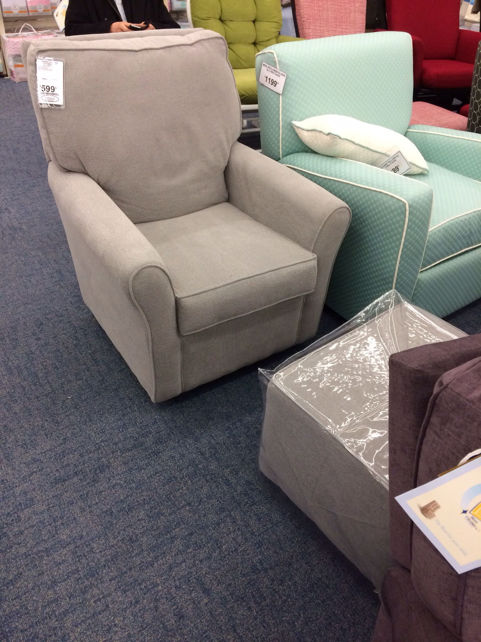 Glider and ottoman set for nursery - Serra Glider At Buy Buy Baby