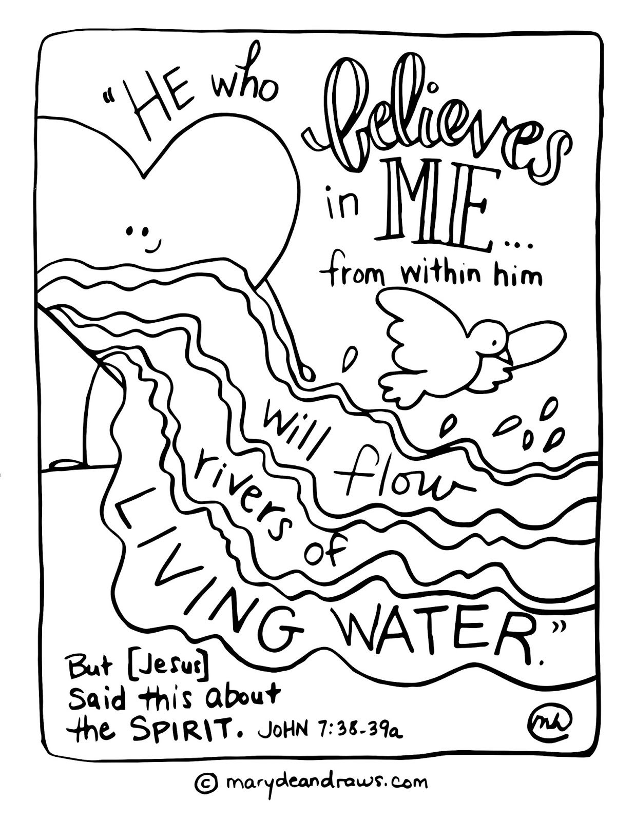 rivers of living water John 7 38