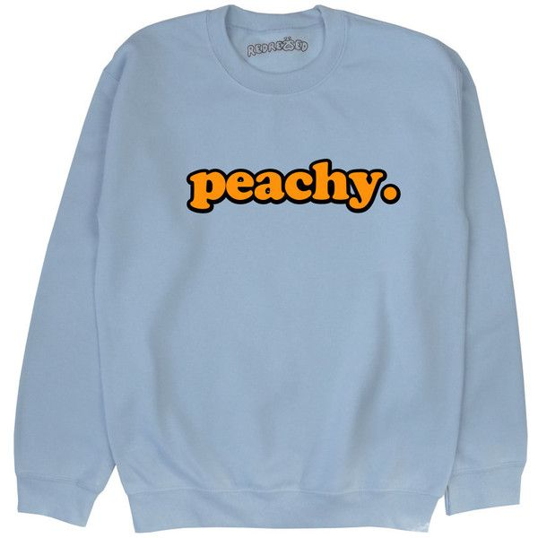 dd61705533 Peachy Sweatshirt Unisex Kawaii Grunge Pastel Pink Blue Yellow ...
