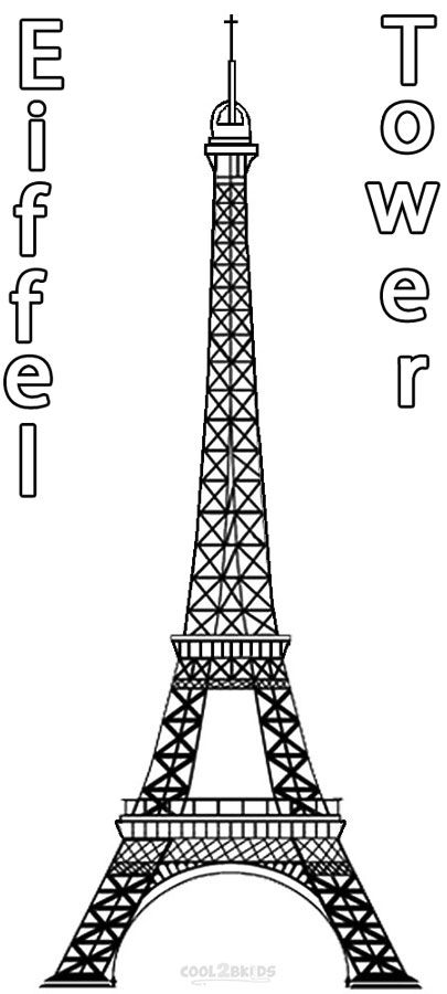 Printable Eiffel Tower Coloring Pages For Kids Cool2bkids Eiffel Tower Drawing Christmas Coloring Pages Printable Christmas Coloring Pages
