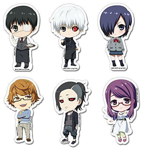 Tokyo ghoul sticker kaneki touka rize uta group sd sticker set