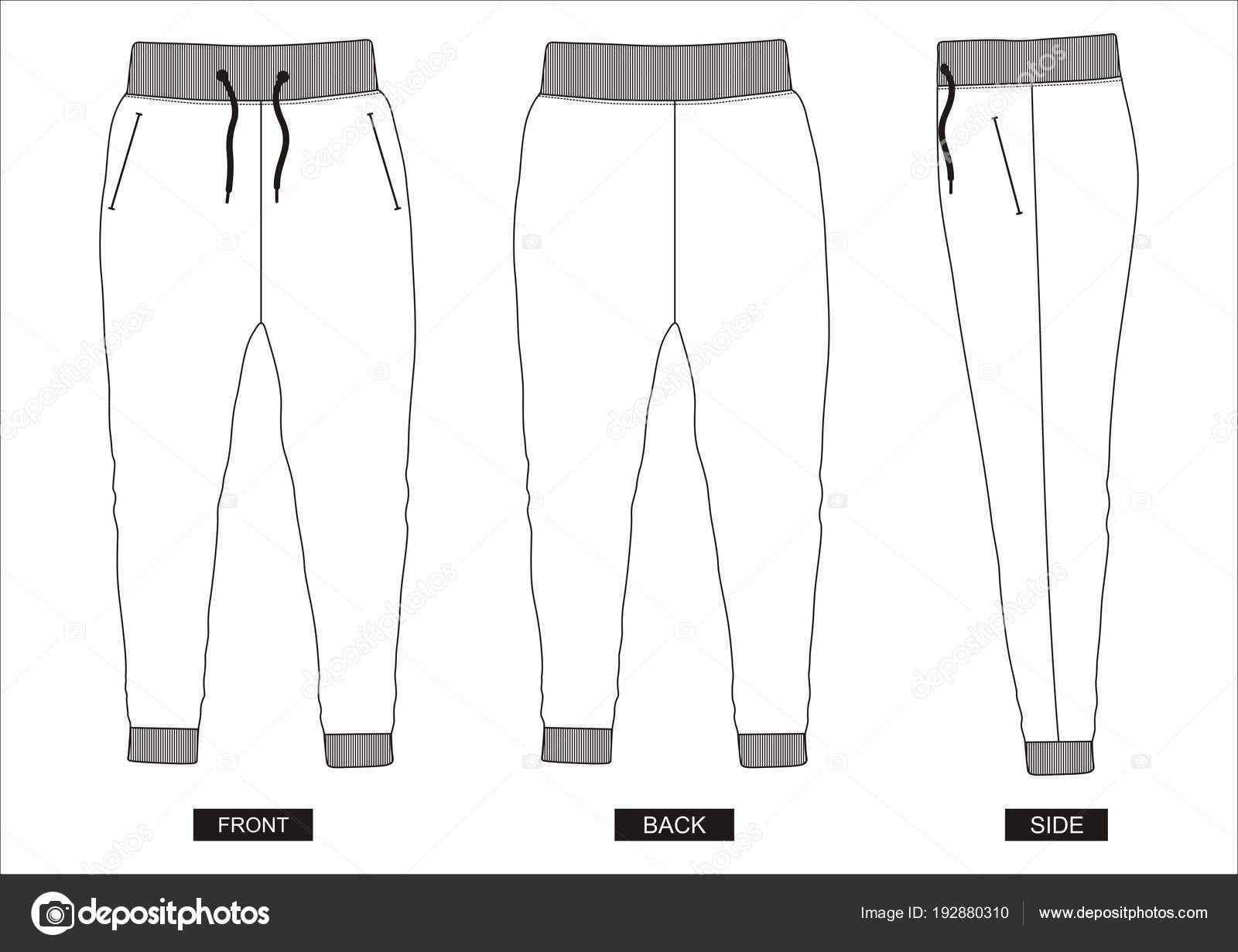 Resultado De Imagen Para Silueta De Pantalon Para Colorear