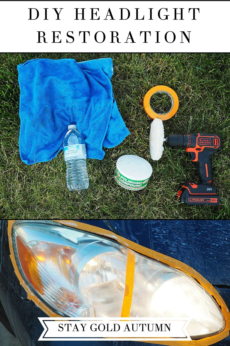 Diy headlight restoration headlight restoration how to