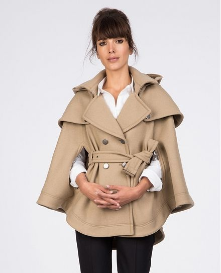 Trench Cape Coats And Jackets Comptoir Des Cotonniers Trench Cape Coats Jackets Women Cape Coat