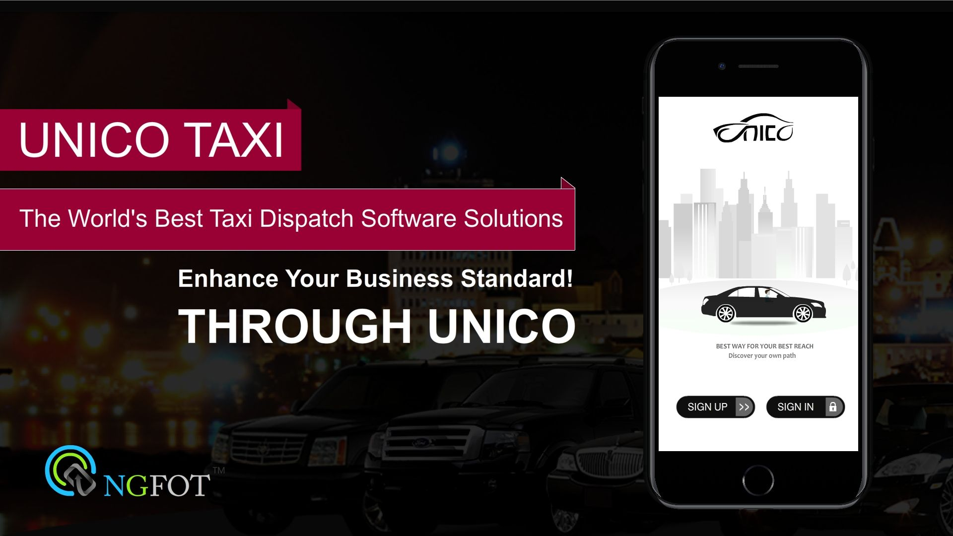 Cloudbased software for the taxi dispatch would be a