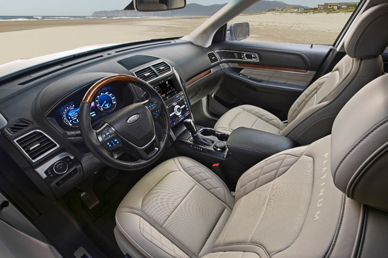 2016 ford explorer platinum edition 39 s interior features review and concept car pinterest. Black Bedroom Furniture Sets. Home Design Ideas