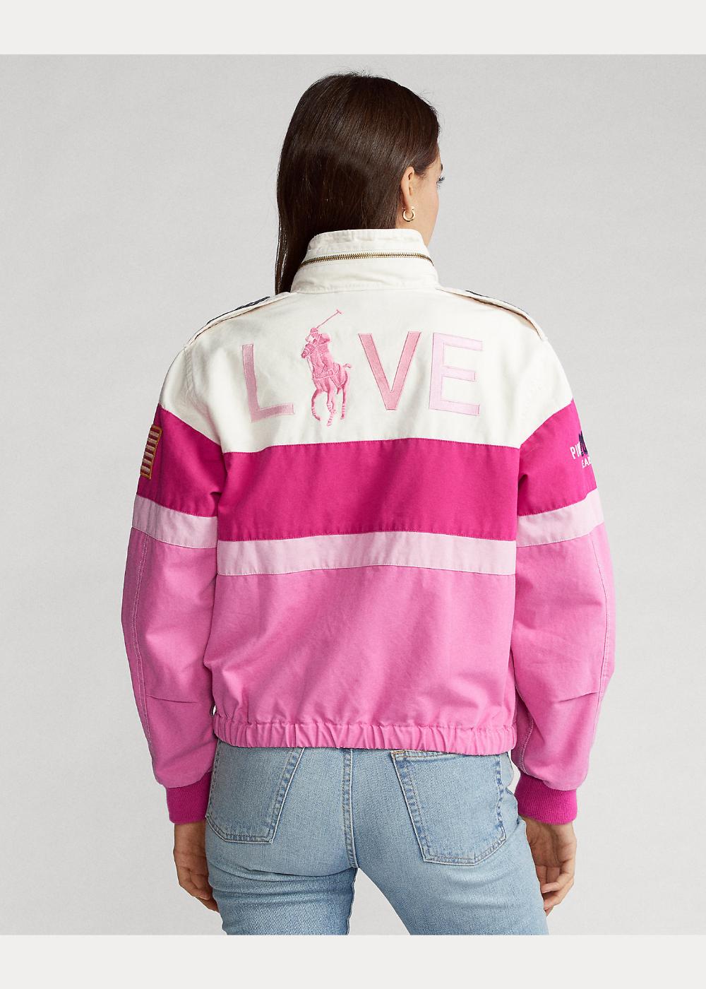 Pink Pony Cotton Canvas Bomber Jacket Jackets Bomber Jacket Cotton Canvas [ 1400 x 1000 Pixel ]