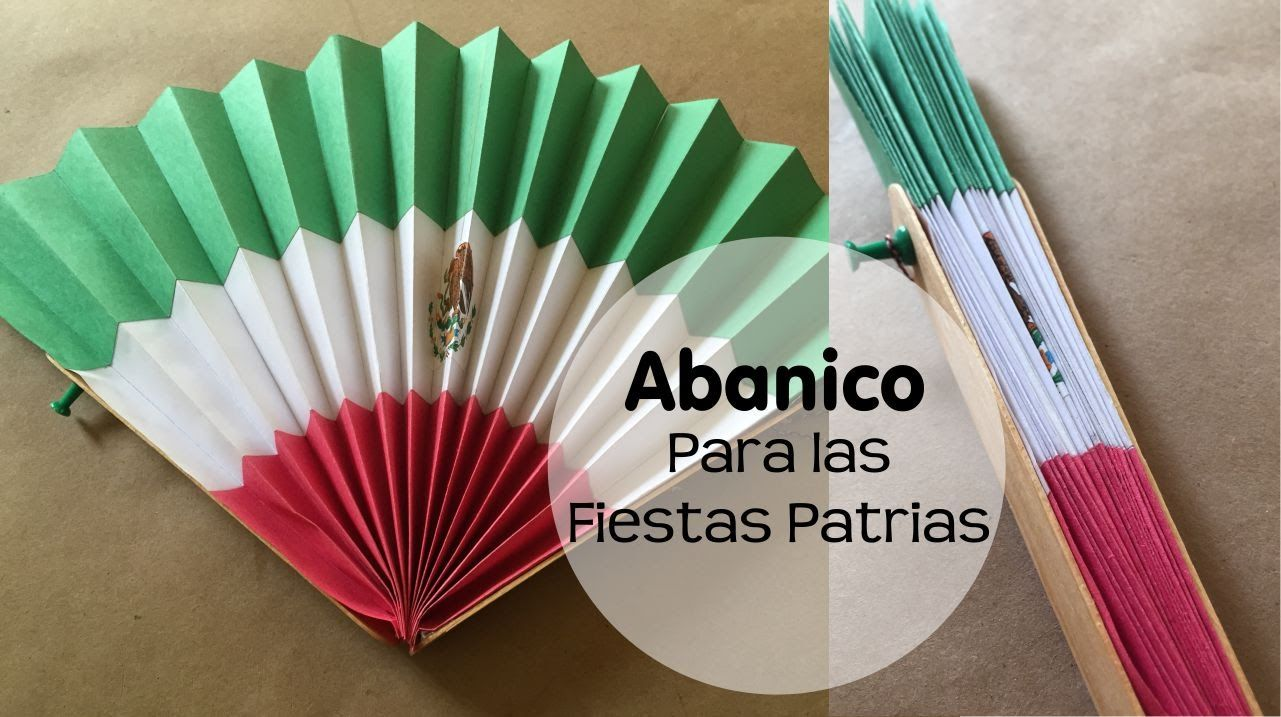 Cómo hacer un abanico de papel para las fiestas patrias o para un ...