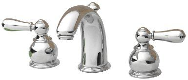 American Standard 7881.732.002 Hampton Two-Lever Handle Widespread Lavatory Faucet with Metal Speed Connect Pop Up Drain, Polished Chrome - ...