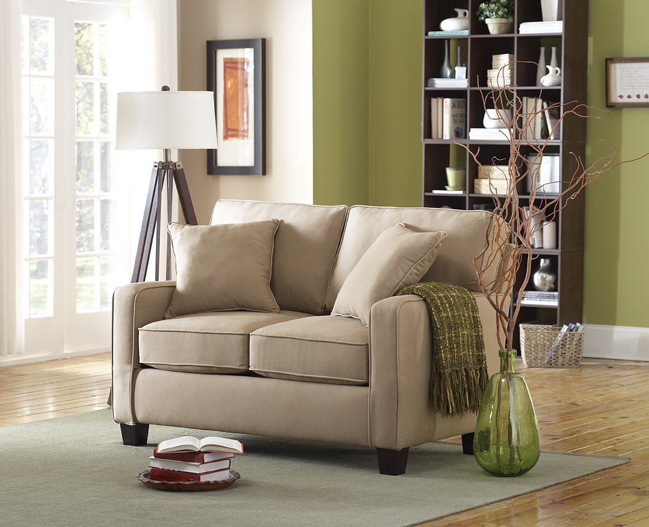 $375 Amazon.com - Sofab Coco Love Seat, Beige - Loveseat